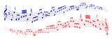 musiknoten - zwei melodien