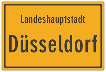 Schild Landeshauptstadt Düsseldorf