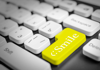 Smile icon button