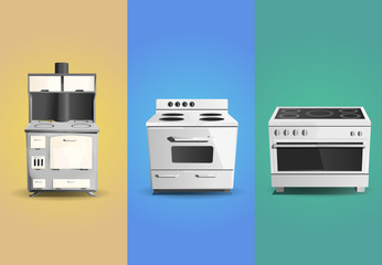 Appliance - Stove colored set