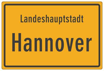 Schild Landeshauptstadt Hannover