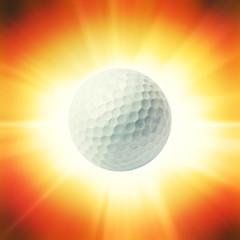bright golf ball