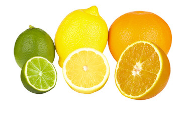 orange fruits,lime,lemon