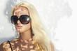 beautiful woman in sunglasses.shadows.beauty blond girl