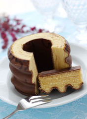 "German layer cake ""Baumkuchen"""