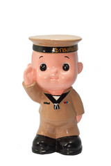 Ceramic Doll of Navy