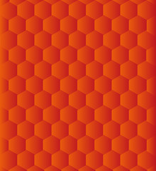 Mosaic background of orange hexagons