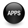 apps black glossy internet icon