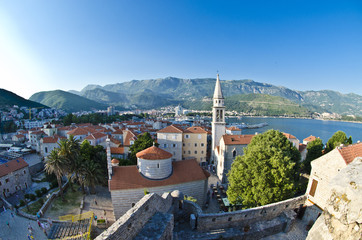 red roofs of Budva in Montenegro, citadela