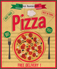 Pizza poster.