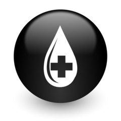 blood black glossy internet icon