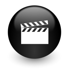 video black glossy internet icon