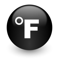 fahrenheit black glossy internet icon