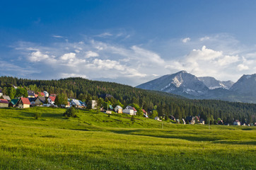 Local houses in Zabljak and mountains, Montenegro