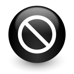 access denied black glossy internet icon