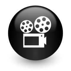 movie black glossy internet icon