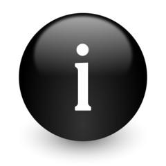 information black glossy internet icon