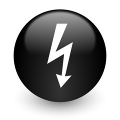 bolt black glossy internet icon