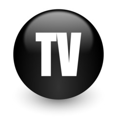 tv black glossy internet icon