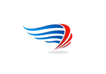 wing abstract company logo