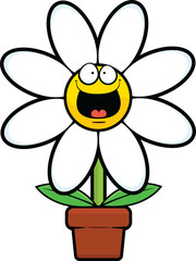 Cartoon Daisy Happy