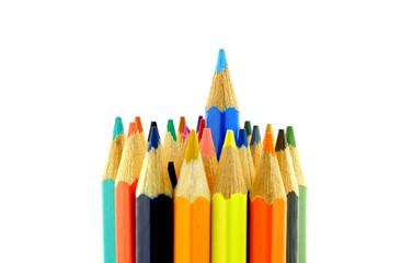 Vertical set of color pencils