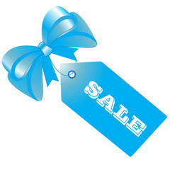 Sale tag, label, blue