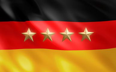 4 Sterne vor Deutschlandfahne