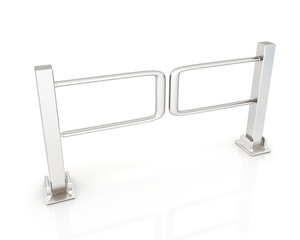 Three-dimensional image of the turnstile