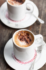 cappuccino with chocolate