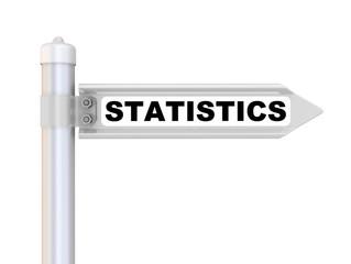 Statistics. Road sign