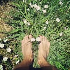 Foot in green