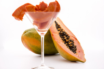 Globose body and tangerine pulp - Papaya.
