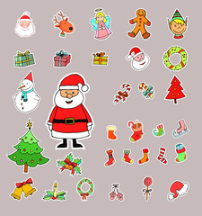 Christmas set.hand drawn Vector
