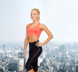 beautiful athletic woman in sportswear