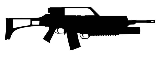modern assault rifle