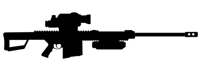 modern big sniper rifle