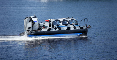 naval Patrol hovercraft at high speed