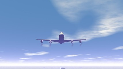 Plane taking off - 3D render