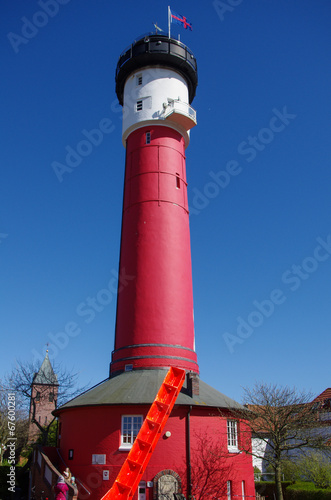 canvas print picture Alter Leuchtturm Wangerooge
