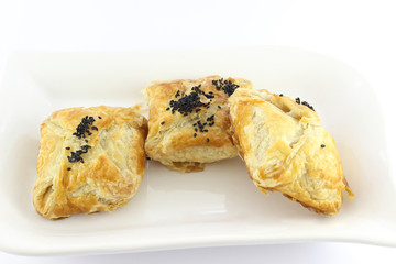 Three Stuffed Pastries