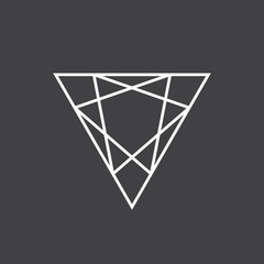 Geometric drawing, triangle flat design