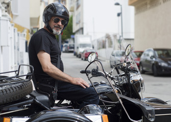 Casual biker