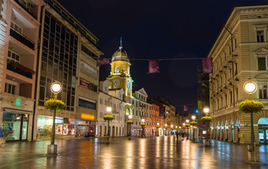 Korzo, the main street of Rijeka, Croatia