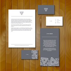Set of geometric cards. Geometric banner design template