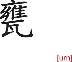Chinese Sign for urn