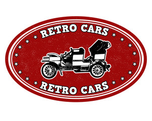 Retro cars stamp
