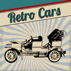Retro cars poster design