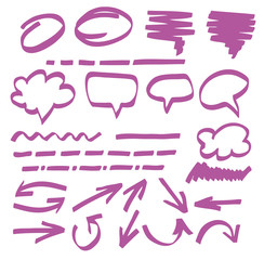 Highlighter elements vetor illustration
