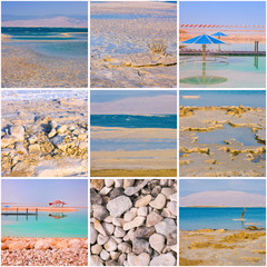 Dead Sea square collage
